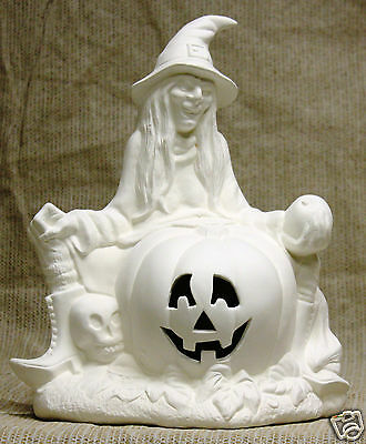 Ceramic Bisque Witch Hazel Scioto Mold 216 U-Paint Ready To Paint