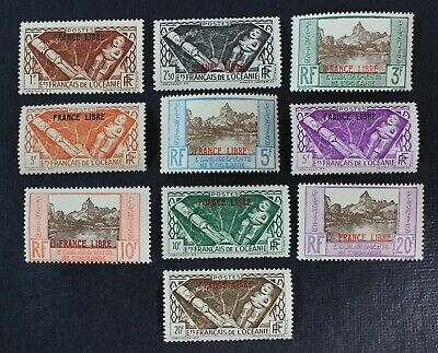 CKStamps: French Polynesia Stamps Collection Scott#126-135 Mint NH OG
