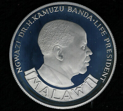 1975 Proof Deep Cameo Reserve Bank of Malawi 10 Kwacha Silver Coin!!