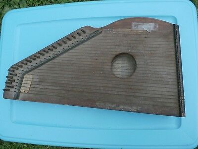 Antique Autoharp C F. Zimmermann's  May 9 52 , 23 cord NAE metal pick 166 years