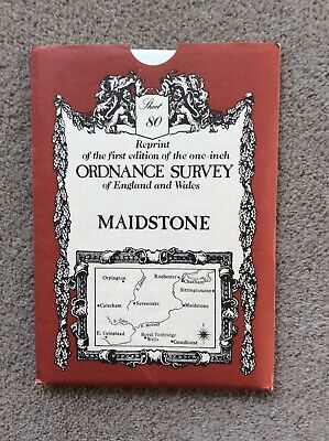 Reprint of 1st edition one inch Ordnance Survey Map, Sheet 80, Maidstone.