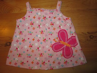 Infant Girls Baby Togs Kidswear Co. Pink Floral Butterfly Sun Dress - 3-6 Months