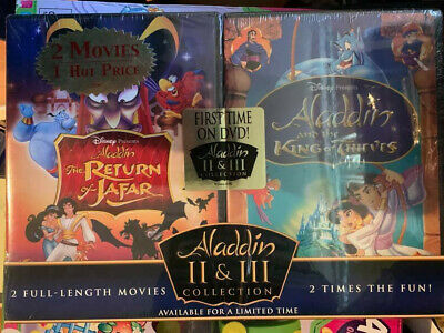 Aladdin The Return Of Jafar/Aladdin And The King Of Thieves (DVD, 2005, 2-Disc S