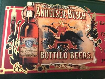 Anheuser-Busch Embossed Metal Collector 10 Card Set Official Product 1996 NEW