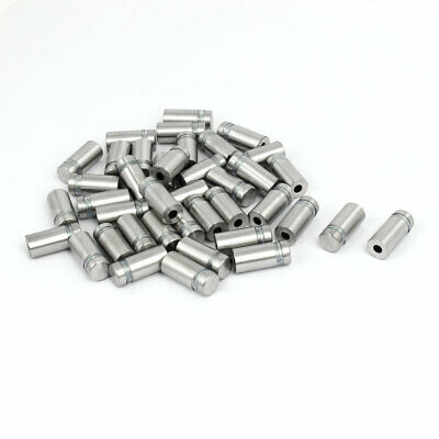 12mmx27mm Stainless Steel Glass Standoff Pins Fixing Mount Bolts Nails 40pcs