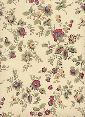 Floral Tapestry 19thC Waterhouse Historic Reproduction Wallpaper $1 SAMPLE