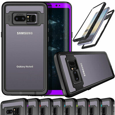Waterproof Phone Case For Samsung Galaxy Note 8 with Crystal Screen Protector