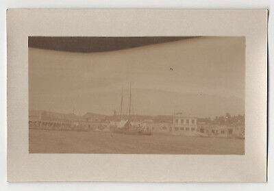 RARE 1920s CARTAGENA COLOMBIA Photograph PHOTO Colombian HARBOR Boats WATERFRONT