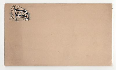 WWII USO Postcard PC Military WORLD WAR United Service Organization GI Army US