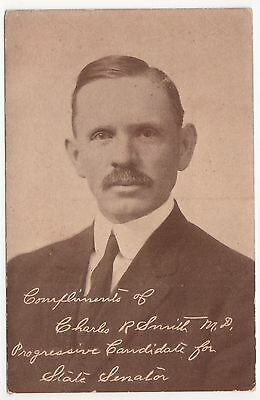 1900s CHARLES SMITH Ohio State Senate POLITICAL PC Postcard PROGRESSIVE OH