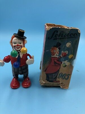 SCHUCO WIND-UP JUGGLING CLOWN  #965 W Original . BOX AND KEY. FULLY OPERATIONAL