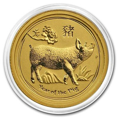 2019 ~ 1/20th~OZ. PURE .9999 GOLD ~ YEAR of the PIG ~ PERTH MINT GEM ~$119.88