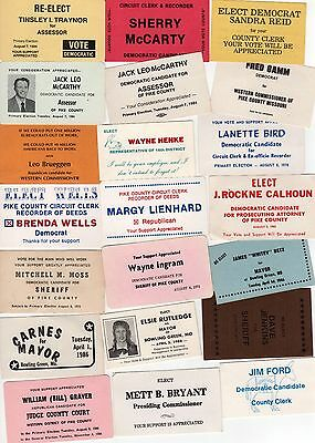 PIKE COUNTY MISSOURI Political Palm Card Lot COLLECTION Bowling Green SHERIFF