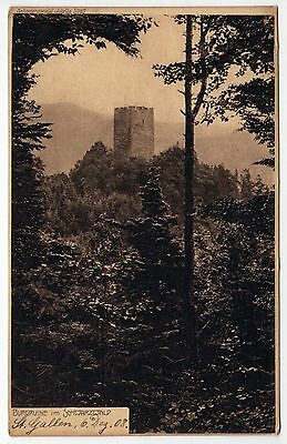 BURGRUINE Schwarzwald GERMANY German PC Postcard CASTLE Black Forest BADEN