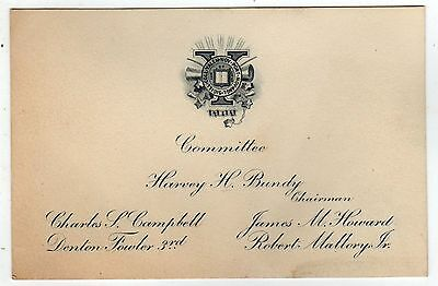 YALE COLLEGE Class of 1909 Card UNIVERSITY New Haven Connecticut CT Ivy League