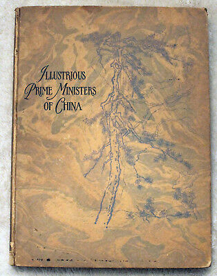 SCARCE 1928 ILLUSTRIOUS PRIME MINISTERS OF CHINA Chinese HISTORY Roosevelt Copy