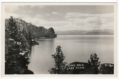 LAKE TAHOE Cave Rock RP RPPC Real Photo Postcard CALIFORNIA Nevada PLACER CA NV