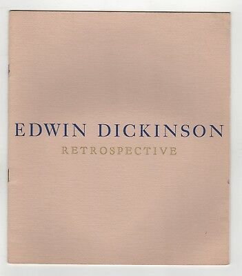 1961 EDWIN DICKINSON Retrospective GRAHAM GALLERY New York City ART Artist