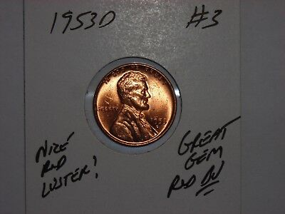 wheat penny 1953D LINCOLN CENT 1953D GEM RED BU LOT #3 UNC SHARP RED LUSTER