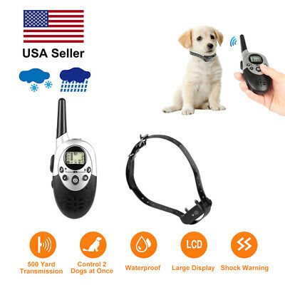 1000 Yard Dog Training Collar Shock Remote Waterproof Electric For Large Pet