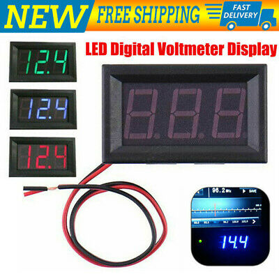 DC 12V~24V LED Digital Voltage Volt Meter Display Voltmeter For Motorcycle Car