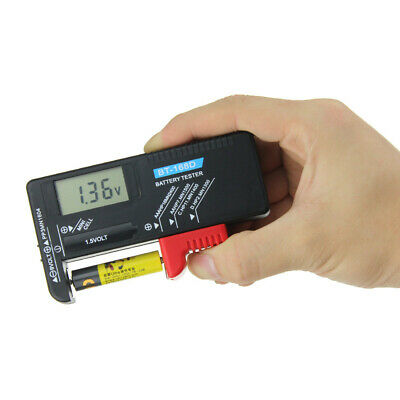 Mini Universal LCD Digital AA/AAA/C/D/9V/1.5V Button Cell Battery Volt Tester