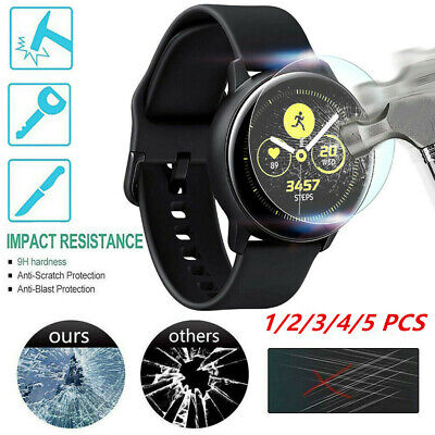 5PACK For Samsung Galaxy active Watch Protective Tempered Glass Screen Protector
