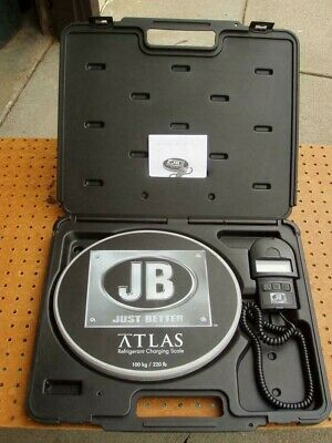 JB JUST BETTER ATLAS 220 lb. CAPACITY REFRIGERANT CHARGING SCALE EXCELLENT COND