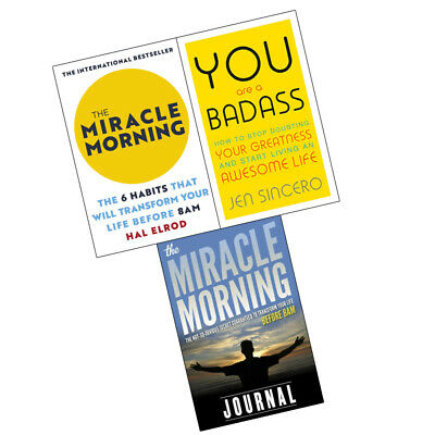 Miracle Morning,You Are a Badass,Miracle Morning Journal 3 Books Collection Set
