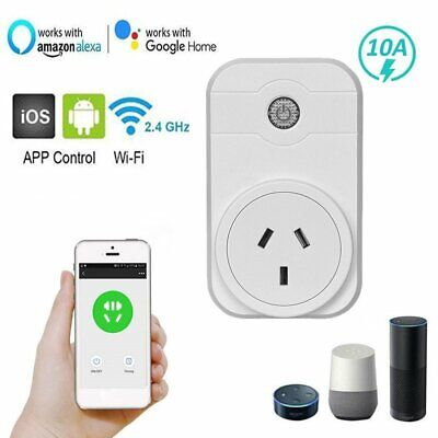 10A Wifi AU Smart Plug Power Socket Outlet Switch APP for ECHO ALEXA GOOGLE HOME