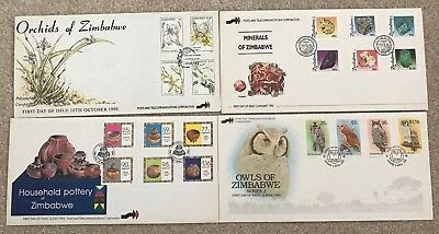 Zimbabwe 4 First Day Covers from 1993