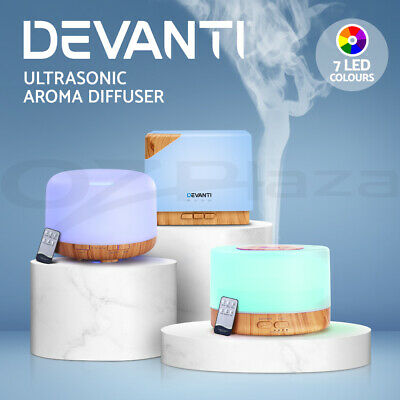 Devanti Aromatherapy Diffuser Aroma 500ml Ultrasonic Humidifier Essential Oils