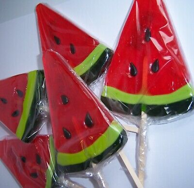Large Watermelon Wedge Lollipops Lollies Rock Sweets Birthday Wedding Party