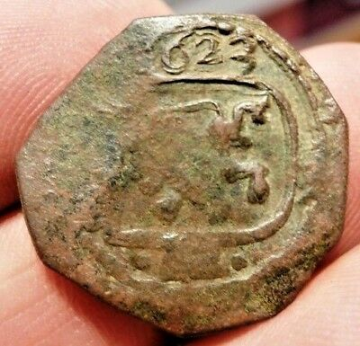 1623 Pirate Cobs Coin Old 8 Maravedis Felipe Philip Iv Colonial Treasure Times