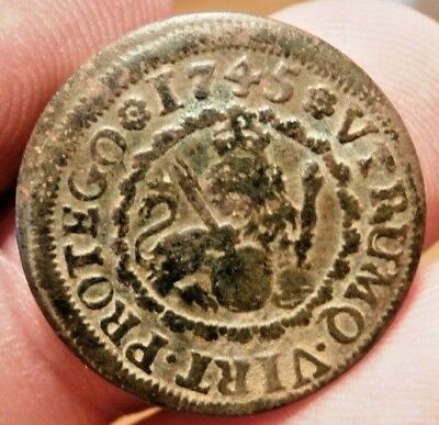 1745 Pirate Cobs Coin Old 2 Maravedis Felipe Philip V Colonial Treasure Times