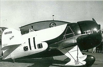 GEE BEE #11 OPENED DOOR AIRPLANE FROM VINTAGE NEGATIVE 5 x 7  B /& W  PHOTOGRAPH