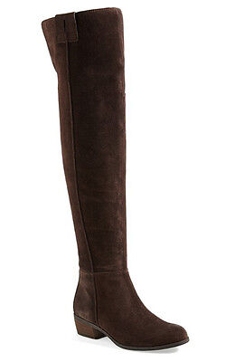b2a13d46aad NEW Sam Edelman Johanna Over the Knee Espresso Brown Suede Leather Boot Size  6