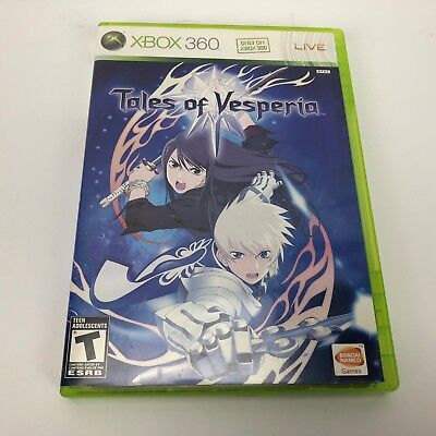 Tales of Vesperia (Microsoft Xbox 360, 2008) Complete- Tested and Works