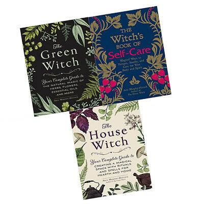 Arin Murphy Hiscock 3 Books Collection Set Witch's Book of Self Care,Green Witch