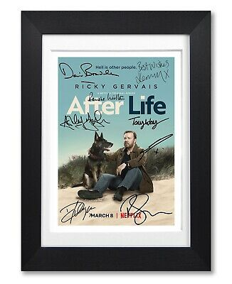 After Life Cast Signed Poster Print Ricky Gervais Season Photo Autograph Gift