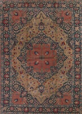 ANTIQUE Geometric Vegetable Dye Persian Oriental Hand-Knotted 12x16 BIG WOOL Rug