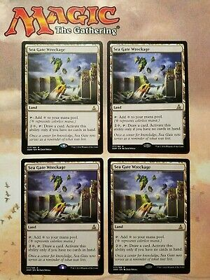 x4 MTG Sea Gate Wreckage Land Oath of the Gatewatch NM