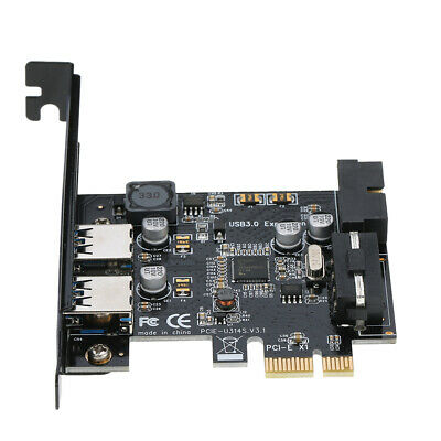 STW PCI-E to USB 3.0 Hub Express Card Controller Adapter 19Pin Connector W3G8