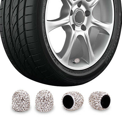 Bling Bling Car Accessories Crystal Deluxe Diamond Crown Tire Valve Stem Caps