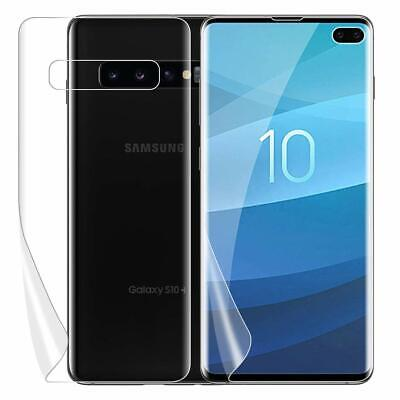 For Galaxy S8 S9 S10 Plus 10e 5G Note 8 9 Front Back Clear Screen Protector Film