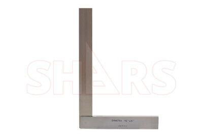 "SHARS 12"" x 8"" Hardened Precision Steel Squares Straight Edge Square NEW"