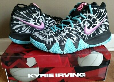 c817ef4cf77 Nike Kyrie 4 all star shoes Irving mens size 8.5 black white tie-dye  basketball