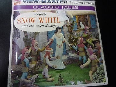 Snow White and Seven Dwarfs ViewMaster Vintage 3 Reel set Sealed B300