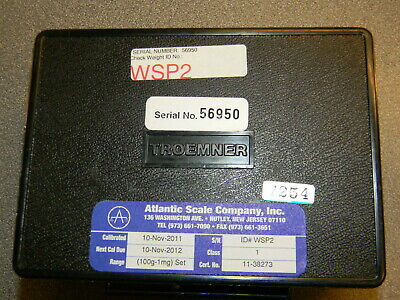 Troemner Class 1 Scale Weight Set P/N 7228-1 1mg - 100g, No Certificate