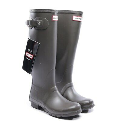 da1bd2904f45e2 HUNTER Gummistiefel Gr. D 37 Braun Damen Schuhe Boots Shoes Original Tall  Neu